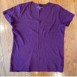 purple eddie bauer tshirt